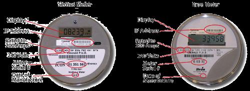 how to read western power digital meters