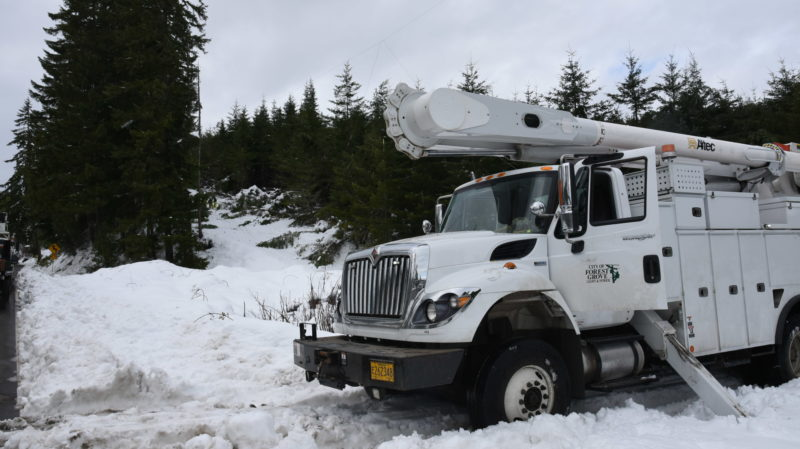 Forest Grove Power & Light Assist with Outage Restorations