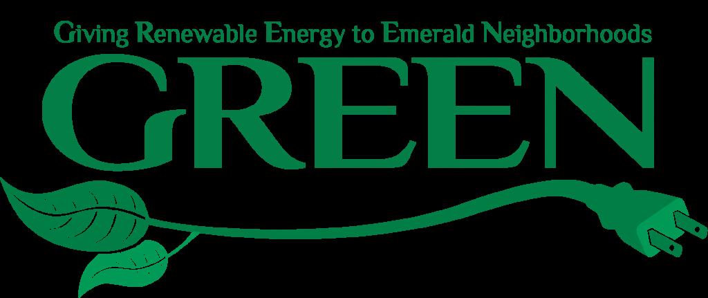 GREEN: Giving Renewable Energy to Emerald Neighborhoods logo