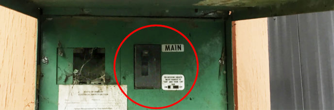 Outdoor Main Breaker