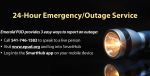Report an outage or get outage updates and preparedness tips here.