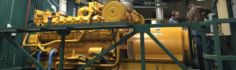 engine at the Short Mountain plant